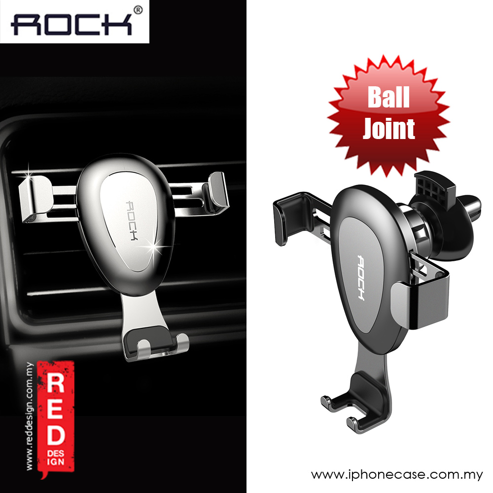 Picture of Rock Universal Gravity Air Vent Car Mount with Ball Join for Smartphone up to 6 inches iPhone X Note 8 iPhone 8 Plus (Grey)