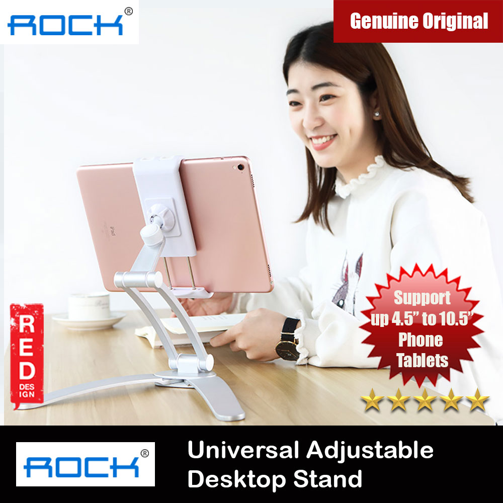 Picture of Rock Aluminum Alloy Univeral Adjustable Suspensible Desktop Phone iPad Tablet Holder Stand (Silver) Red Design- Red Design Cases, Red Design Covers, iPad Cases and a wide selection of Red Design Accessories in Malaysia, Sabah, Sarawak and Singapore
