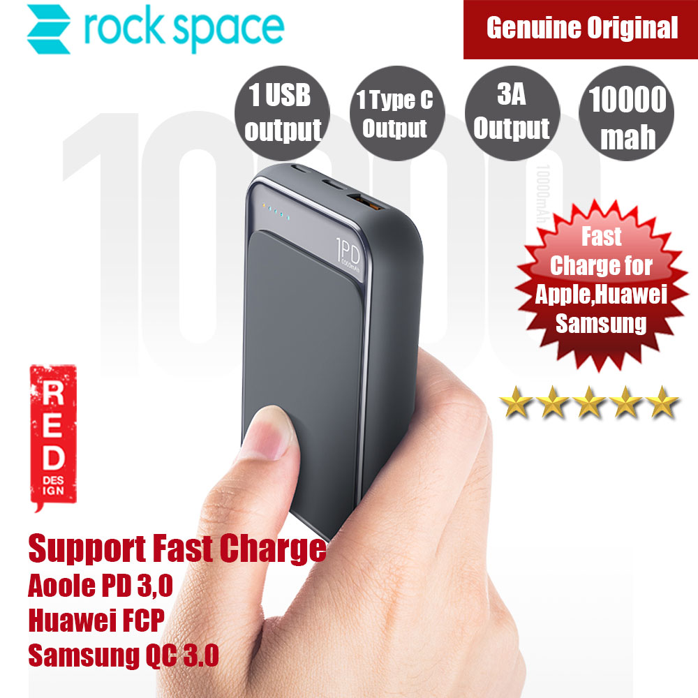 Picture of Rock Space P65 Mini PD Power Bank Support QC3 FCP 10000mah (Navy) Red Design- Red Design Cases, Red Design Covers, iPad Cases and a wide selection of Red Design Accessories in Malaysia, Sabah, Sarawak and Singapore