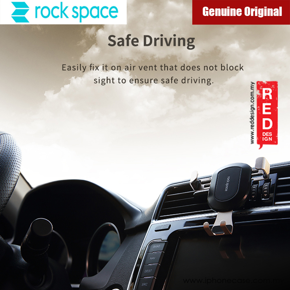 Picture of Rock Space Universal Gravity Air Vent Car Mount for Smartphone up to 6 inches (Gold)