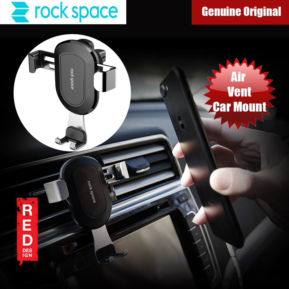 Picture of Rock Space Universal Gravity Air Vent Car Mount for Smartphone up to 6 inches (Silver) Red Design- Red Design Cases, Red Design Covers, iPad Cases and a wide selection of Red Design Accessories in Malaysia, Sabah, Sarawak and Singapore