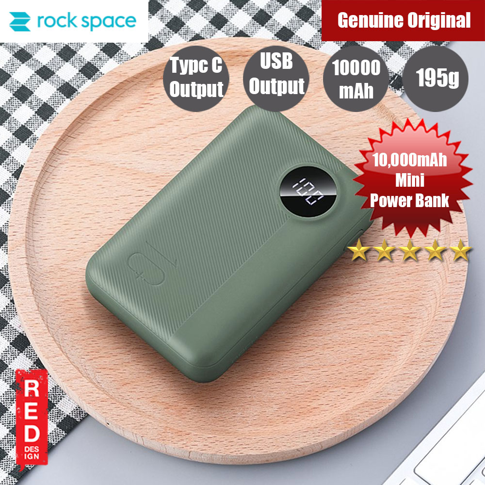 Picture of Rock Space P75 Pro Mini 2 Output Travel Power Bank 10000mah (Green) Red Design- Red Design Cases, Red Design Covers, iPad Cases and a wide selection of Red Design Accessories in Malaysia, Sabah, Sarawak and Singapore