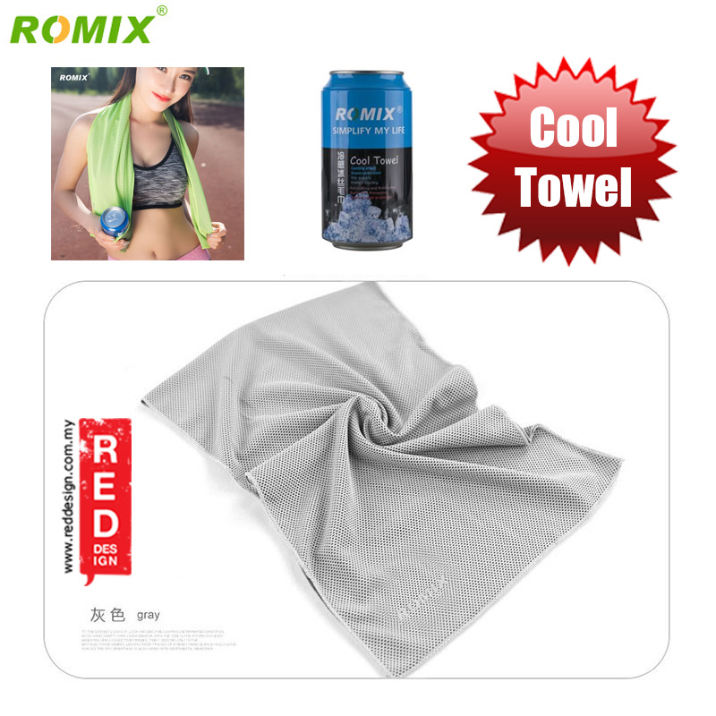 Picture of Romix Instant Cooling Effect Towel - Grey Red Design- Red Design Cases, Red Design Covers, iPad Cases and a wide selection of Red Design Accessories in Malaysia, Sabah, Sarawak and Singapore
