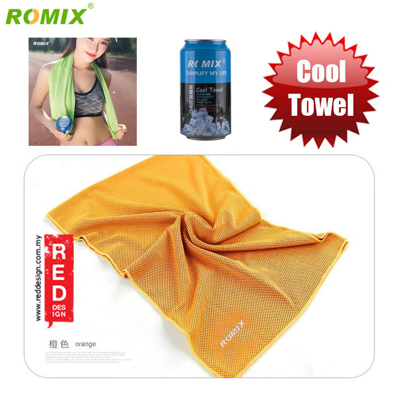 Picture of Romix Instant Cooling Effect Towel - Orange Red Design- Red Design Cases, Red Design Covers, iPad Cases and a wide selection of Red Design Accessories in Malaysia, Sabah, Sarawak and Singapore