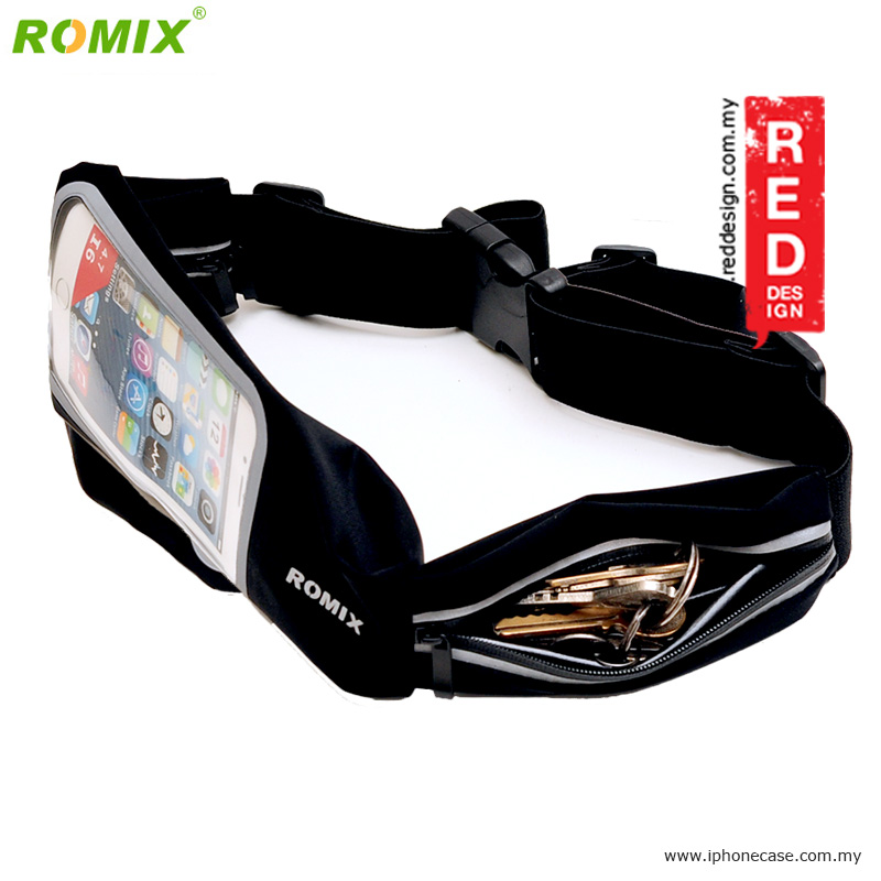 "Picture of Romix Window Touch Screen Running Belt Waist Pouch for up to 4.7"" Smartphone - Black"
