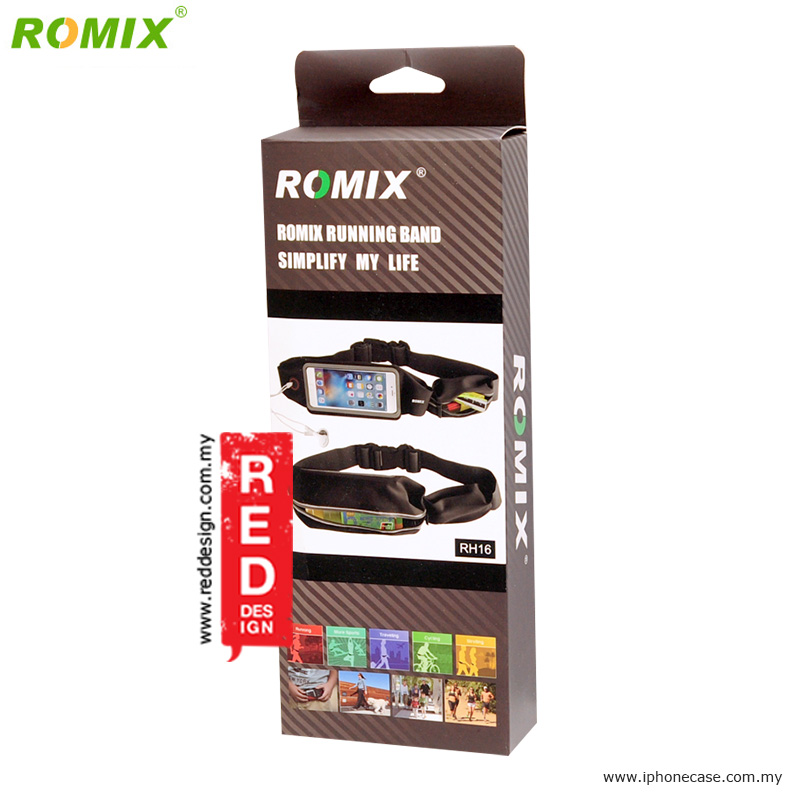 "Picture of Romix Window Touch Screen Running Belt Waist Pouch for up to 5.5"" Smartphone - Black"