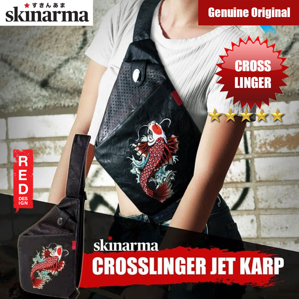 Picture of Skinarma Irezumi Cross Linger Bag (Jet Karp) Red Design- Red Design Cases, Red Design Covers, iPad Cases and a wide selection of Red Design Accessories in Malaysia, Sabah, Sarawak and Singapore