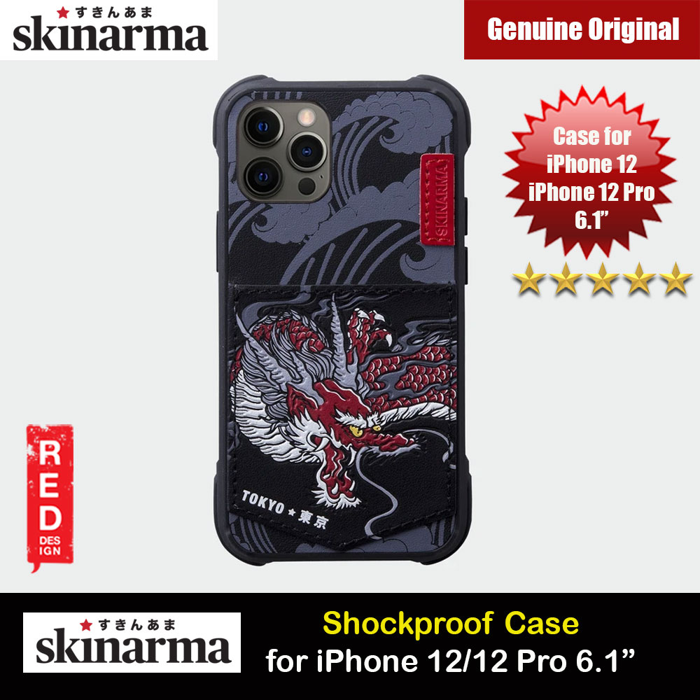 Picture of Skinarma Leatherette Back Case Designed With Integrated Card Pocket for iPhone 12 iPhone 12 Pro 6.1 (Dragon) Apple iPhone 12 6.1- Apple iPhone 12 6.1 Cases, Apple iPhone 12 6.1 Covers, iPad Cases and a wide selection of Apple iPhone 12 6.1 Accessories in Malaysia, Sabah, Sarawak and Singapore