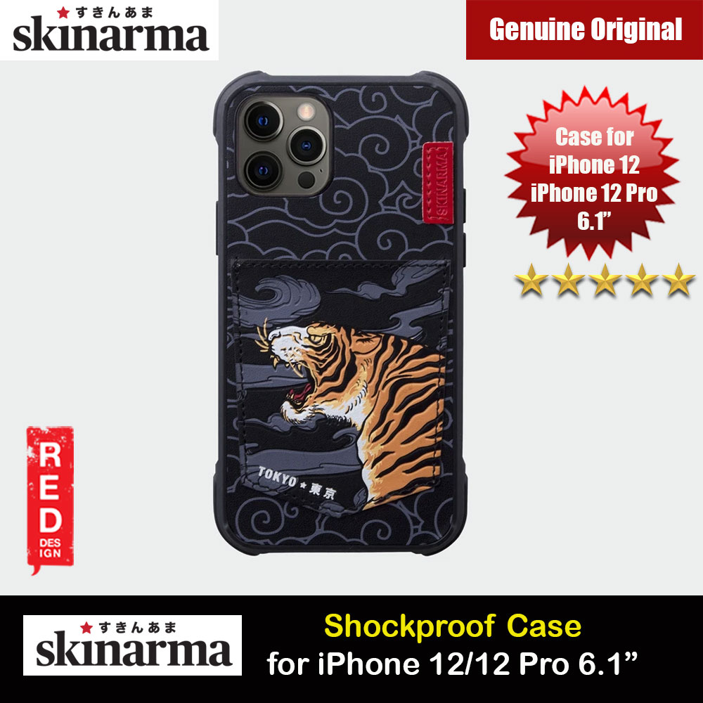 Picture of Skinarma Leatherette Back Case Designed With Integrated Card Pocket for iPhone 12 iPhone 12 Pro 6.1 (Tiger) Apple iPhone 12 6.1- Apple iPhone 12 6.1 Cases, Apple iPhone 12 6.1 Covers, iPad Cases and a wide selection of Apple iPhone 12 6.1 Accessories in Malaysia, Sabah, Sarawak and Singapore