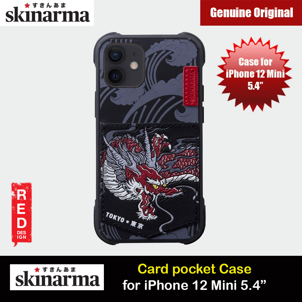 Picture of Skinarma Leatherette Back Case Designed With Integrated Card Pocket for iPhone 12 Mini 5.4 (Dragon) Apple iPhone 12 mini 5.4- Apple iPhone 12 mini 5.4 Cases, Apple iPhone 12 mini 5.4 Covers, iPad Cases and a wide selection of Apple iPhone 12 mini 5.4 Accessories in Malaysia, Sabah, Sarawak and Singapore