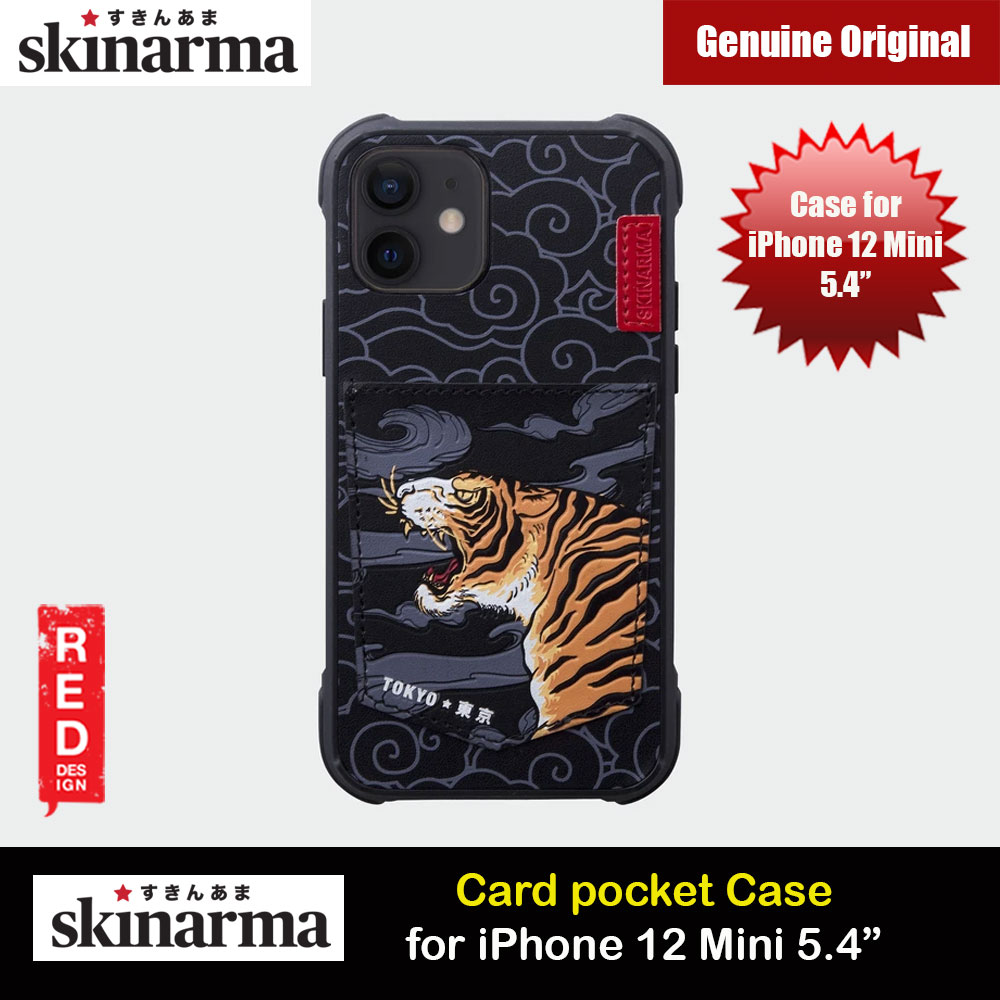 Picture of Skinarma Leatherette Back Case Designed With Integrated Card Pocket for iPhone 12 Mini 5.4 (Tiger) Apple iPhone 12 mini 5.4- Apple iPhone 12 mini 5.4 Cases, Apple iPhone 12 mini 5.4 Covers, iPad Cases and a wide selection of Apple iPhone 12 mini 5.4 Accessories in Malaysia, Sabah, Sarawak and Singapore