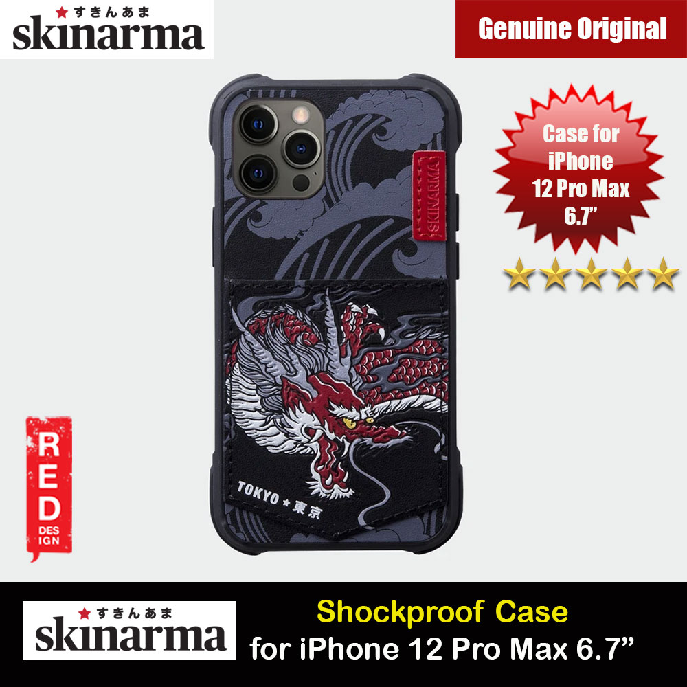 Picture of Skinarma Leatherette Back Case Designed With Integrated Card Pocket for iPhone 12 Pro Max 6.7 (Dragon) Apple iPhone 11 Pro Max 6.5- Apple iPhone 11 Pro Max 6.5 Cases, Apple iPhone 11 Pro Max 6.5 Covers, iPad Cases and a wide selection of Apple iPhone 11 Pro Max 6.5 Accessories in Malaysia, Sabah, Sarawak and Singapore