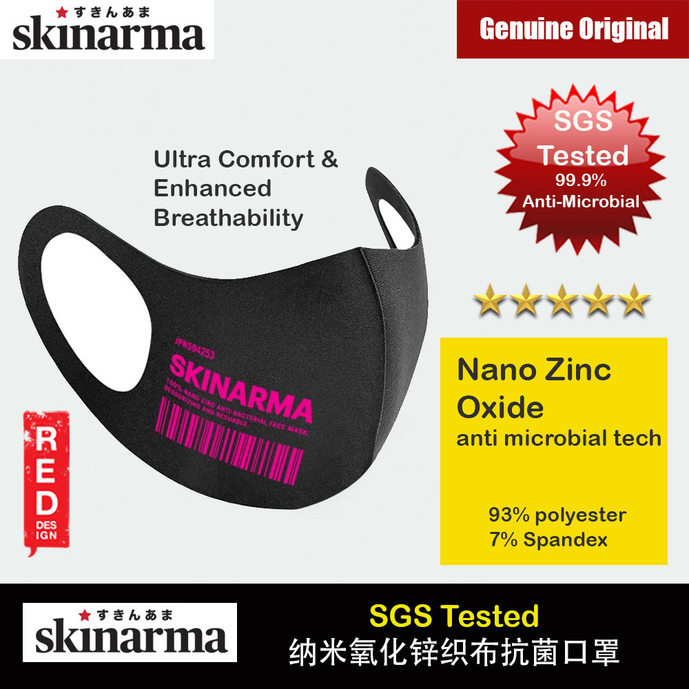 Picture of Skinarma Washable Stretchable Durable Fabric Comfort Fit Nano Zinc Oxide Anti Microbial Tech That Kills 99.9% Airborne Bacteria Reusable Face Mask with Airo Breathe Technology (KOKYU Neon Pink) Red Design- Red Design Cases, Red Design Covers, iPad Cases and a wide selection of Red Design Accessories in Malaysia, Sabah, Sarawak and Singapore