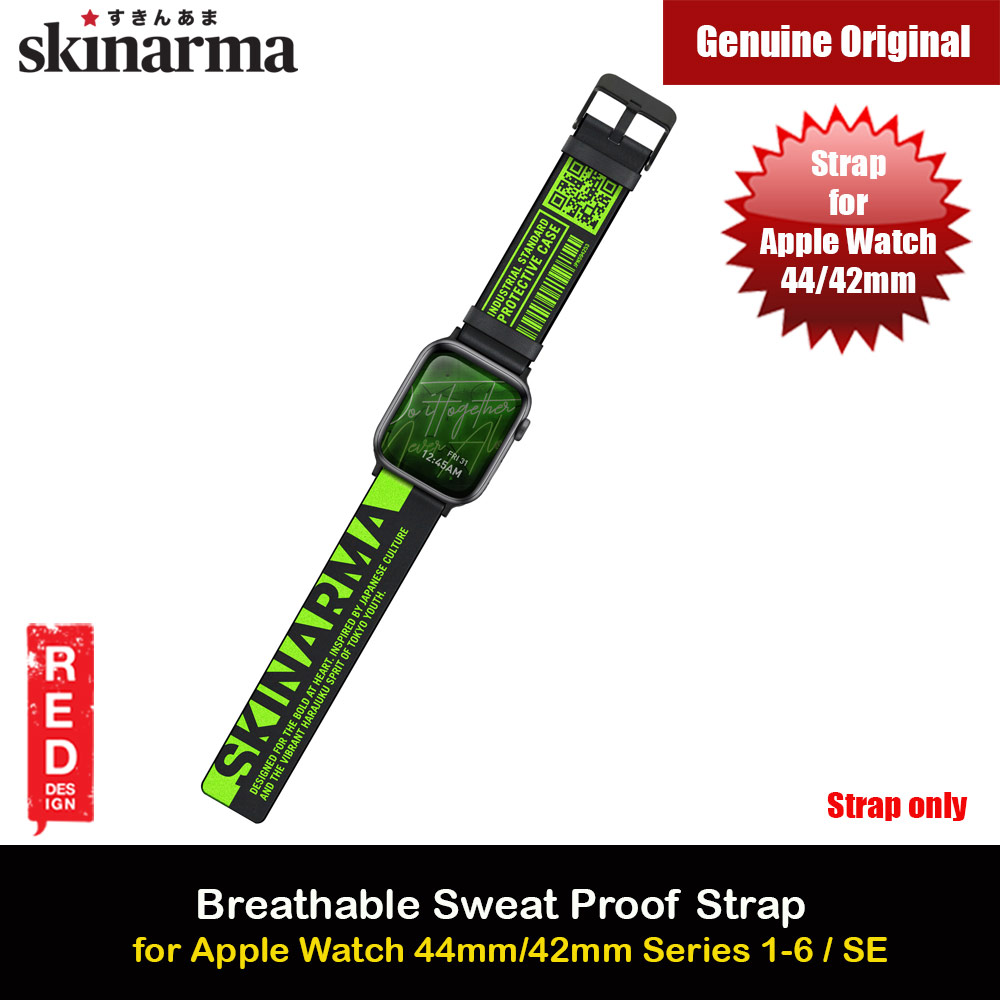 Picture of Skinarma Tekubi High Performance Silicone Watch Strap for Apple Watch 42mm 44mm Series 4 Series 5 Series 6 Series SE (Green) Apple Watch 42mm- Apple Watch 42mm Cases, Apple Watch 42mm Covers, iPad Cases and a wide selection of Apple Watch 42mm Accessories in Malaysia, Sabah, Sarawak and Singapore