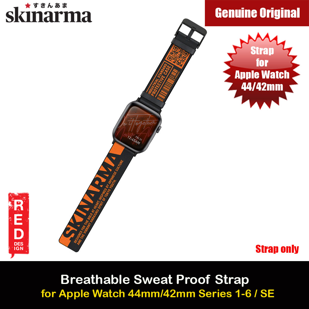 Picture of Skinarma Tekubi High Performance Silicone Watch Strap for Apple Watch 42mm 44mm Series 4 Series 5 Series 6 Series SE (Orange) Apple Watch 42mm- Apple Watch 42mm Cases, Apple Watch 42mm Covers, iPad Cases and a wide selection of Apple Watch 42mm Accessories in Malaysia, Sabah, Sarawak and Singapore