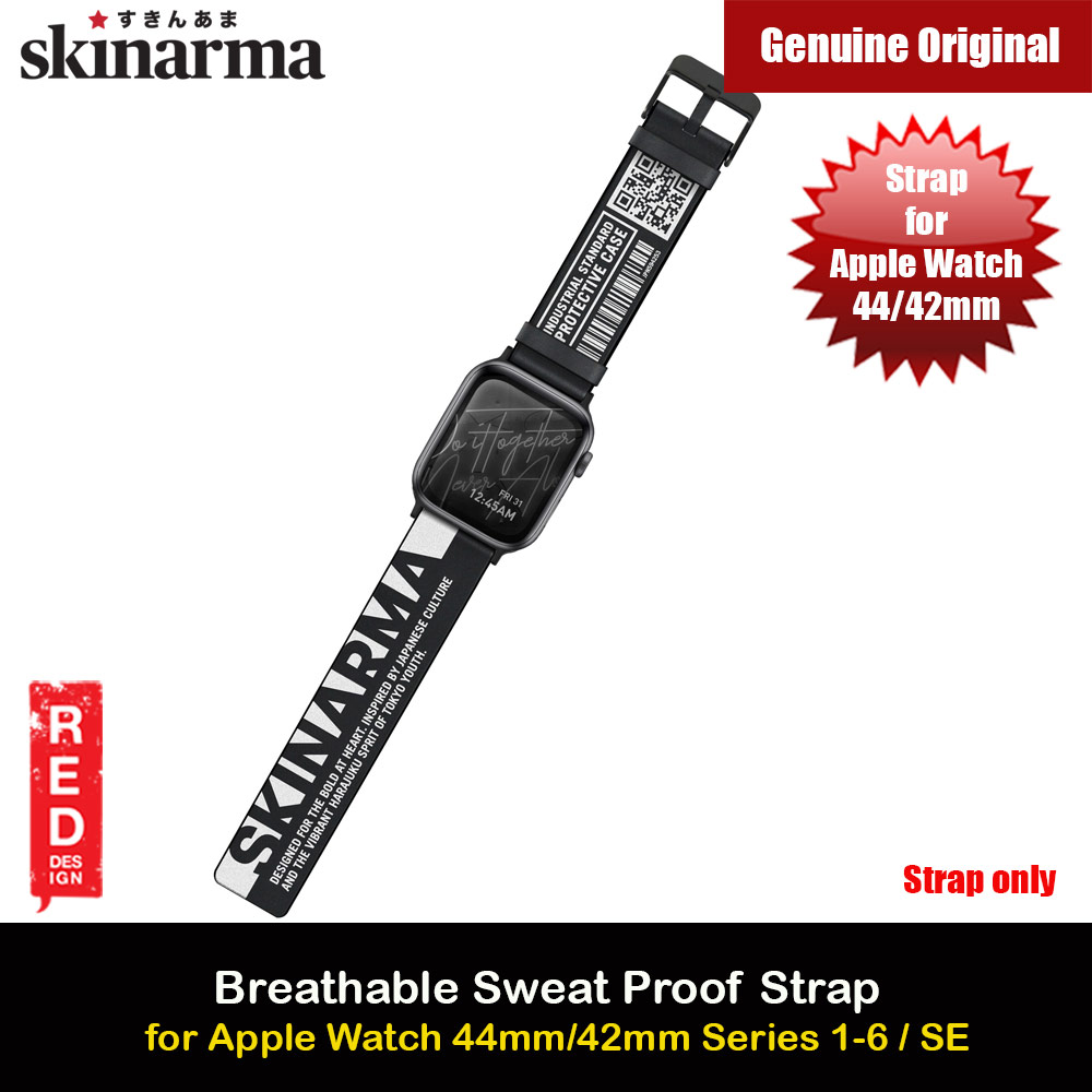 Picture of Skinarma Tekubi High Performance Silicone Watch Strap for Apple Watch 42mm 44mm Series 4 Series 5 Series 6 Series SE (White) Apple Watch 42mm- Apple Watch 42mm Cases, Apple Watch 42mm Covers, iPad Cases and a wide selection of Apple Watch 42mm Accessories in Malaysia, Sabah, Sarawak and Singapore