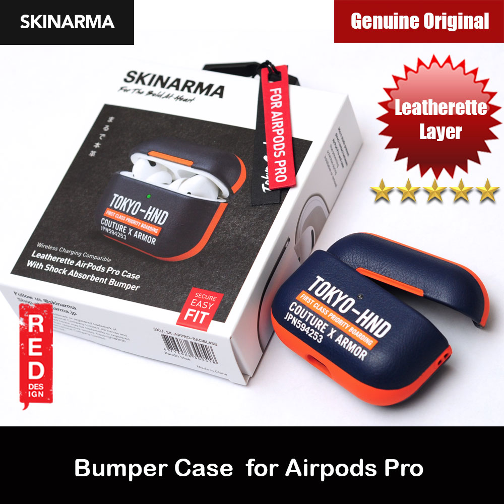 Picture of Skinarma Shock Proof Designer Leatherette Airpods Pro Case (Bando Blue) Apple Airpods Pro- Apple Airpods Pro Cases, Apple Airpods Pro Covers, iPad Cases and a wide selection of Apple Airpods Pro Accessories in Malaysia, Sabah, Sarawak and Singapore