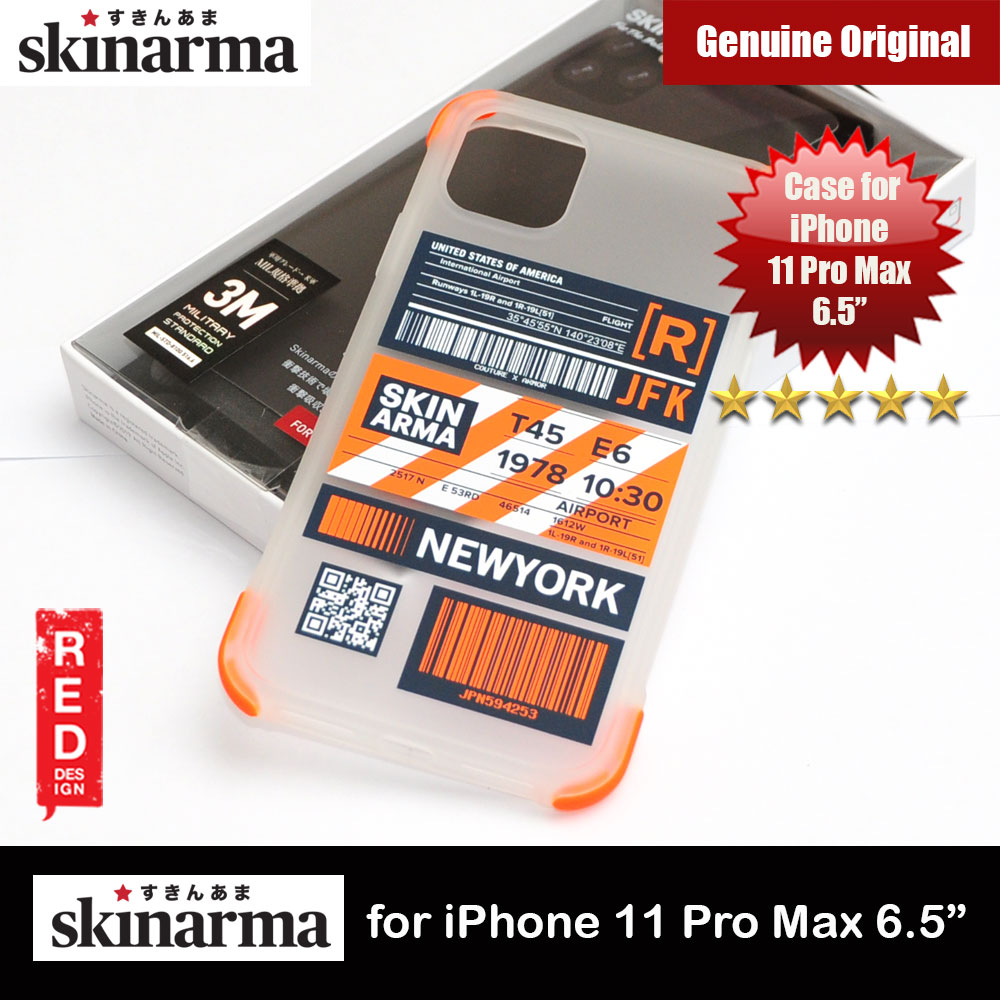 Picture of Skinarma Matte Drop Protection Snap Back Case Airport Boarding Pass Ticket Design for Apple iPhone 11 Pro Max 6.5 (New York) Apple iPhone 11 Pro Max 6.5- Apple iPhone 11 Pro Max 6.5 Cases, Apple iPhone 11 Pro Max 6.5 Covers, iPad Cases and a wide selection of Apple iPhone 11 Pro Max 6.5 Accessories in Malaysia, Sabah, Sarawak and Singapore