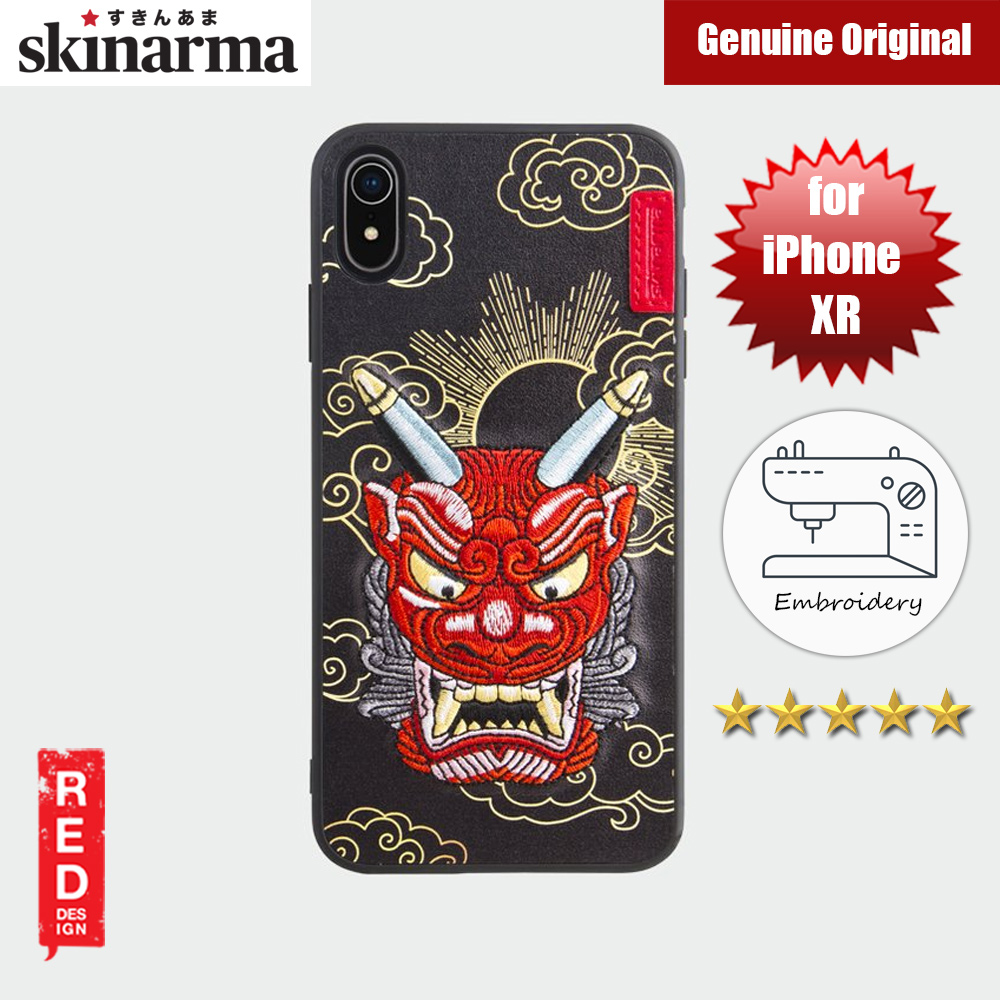 Picture of Skinarma Embroidery Designer Protection Case for Apple iPhone XR (Yokai Akki Red) Apple iPhone XR- Apple iPhone XR Cases, Apple iPhone XR Covers, iPad Cases and a wide selection of Apple iPhone XR Accessories in Malaysia, Sabah, Sarawak and Singapore
