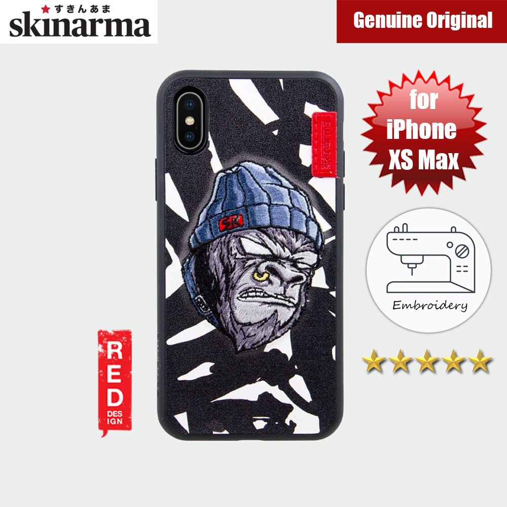 Picture of Skinarma Embroidery Designer Protection Case for Apple iPhone XS Max (Gorilla Saru White) Apple iPhone XS Max- Apple iPhone XS Max Cases, Apple iPhone XS Max Covers, iPad Cases and a wide selection of Apple iPhone XS Max Accessories in Malaysia, Sabah, Sarawak and Singapore