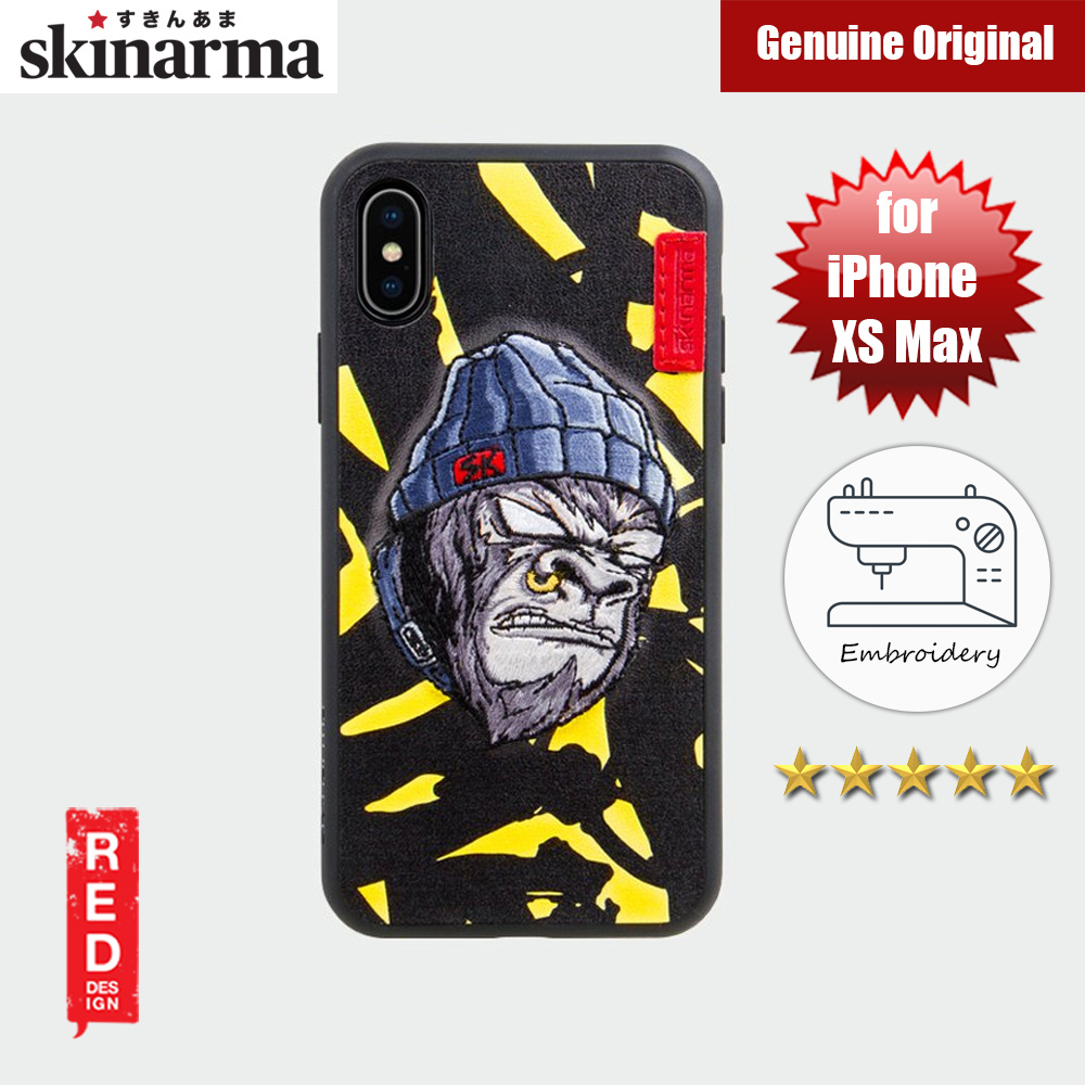 Picture of Skinarma Embroidery Designer Protection Case for Apple iPhone XS Max (Gorilla Saru Yellow) Apple iPhone XS Max- Apple iPhone XS Max Cases, Apple iPhone XS Max Covers, iPad Cases and a wide selection of Apple iPhone XS Max Accessories in Malaysia, Sabah, Sarawak and Singapore