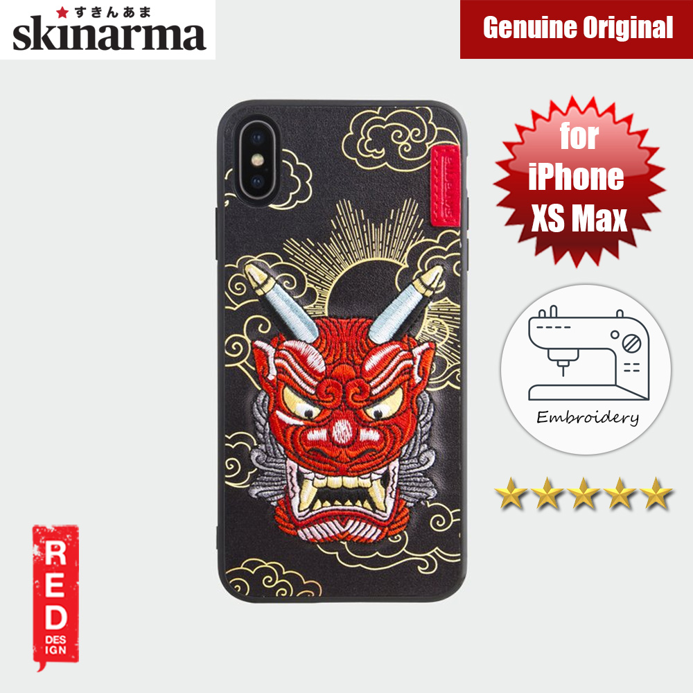Picture of Skinarma Embroidery Designer Protection Case for Apple iPhone XS Max (Yokai Akki Red) Apple iPhone XS Max- Apple iPhone XS Max Cases, Apple iPhone XS Max Covers, iPad Cases and a wide selection of Apple iPhone XS Max Accessories in Malaysia, Sabah, Sarawak and Singapore