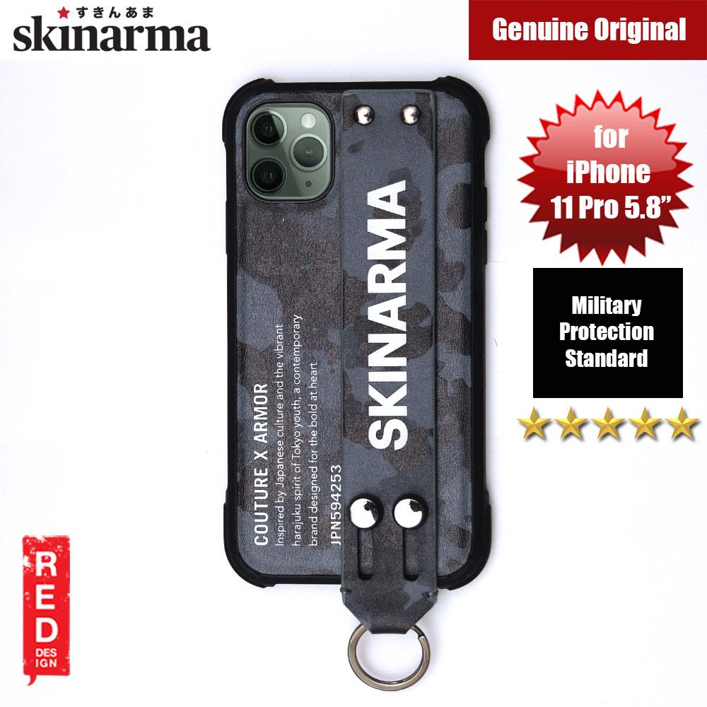 Picture of Skinarma Drop Protection Standable Fashion Case with Strap for Apple iPhone 11 Pro 5.8 (Camo Navy) Apple iPhone 11 Pro 5.8- Apple iPhone 11 Pro 5.8 Cases, Apple iPhone 11 Pro 5.8 Covers, iPad Cases and a wide selection of Apple iPhone 11 Pro 5.8 Accessories in Malaysia, Sabah, Sarawak and Singapore