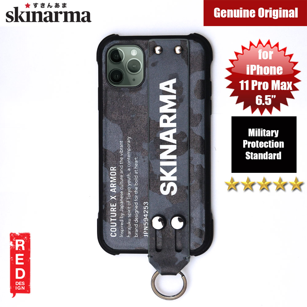 Picture of Skinarma Drop Protection Standable Fashion Case with Strap for Apple iPhone 11 Pro Max 6.5 (Camo Navy) Apple iPhone 11 Pro Max 6.5- Apple iPhone 11 Pro Max 6.5 Cases, Apple iPhone 11 Pro Max 6.5 Covers, iPad Cases and a wide selection of Apple iPhone 11 Pro Max 6.5 Accessories in Malaysia, Sabah, Sarawak and Singapore