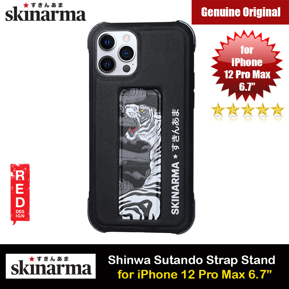 Picture of Skinarma Shinwa Sutando Series Drop Protection Case with Strap and Standable Vertical and Horizontal Portrait and Landscape Viewing Angle Standable Hand Grip Case for iPhone 12 Pro Max 6.7 (Tiger) Apple iPhone 12 Pro Max 6.7- Apple iPhone 12 Pro Max 6.7 Cases, Apple iPhone 12 Pro Max 6.7 Covers, iPad Cases and a wide selection of Apple iPhone 12 Pro Max 6.7 Accessories in Malaysia, Sabah, Sarawak and Singapore