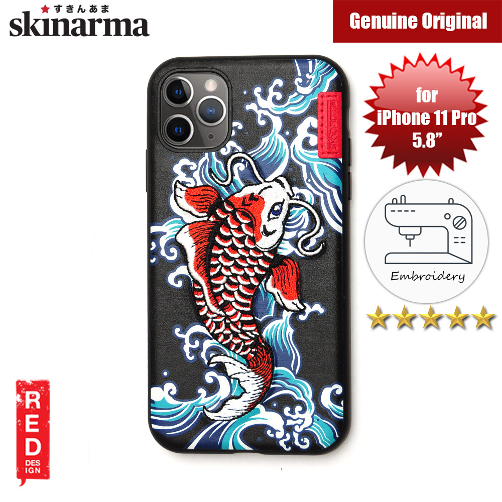 Picture of Skinarma Embroidery Designer Protection Case for Apple iPhone 11 Pro 5.8 (Showa Blue) Apple iPhone 11 Pro 5.8- Apple iPhone 11 Pro 5.8 Cases, Apple iPhone 11 Pro 5.8 Covers, iPad Cases and a wide selection of Apple iPhone 11 Pro 5.8 Accessories in Malaysia, Sabah, Sarawak and Singapore