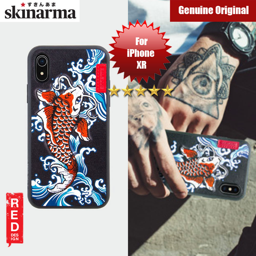 Picture of Skinarma Embroidery Designer Protection Case for Apple iPhone XR (Showa Blue) Apple iPhone XR- Apple iPhone XR Cases, Apple iPhone XR Covers, iPad Cases and a wide selection of Apple iPhone XR Accessories in Malaysia, Sabah, Sarawak and Singapore