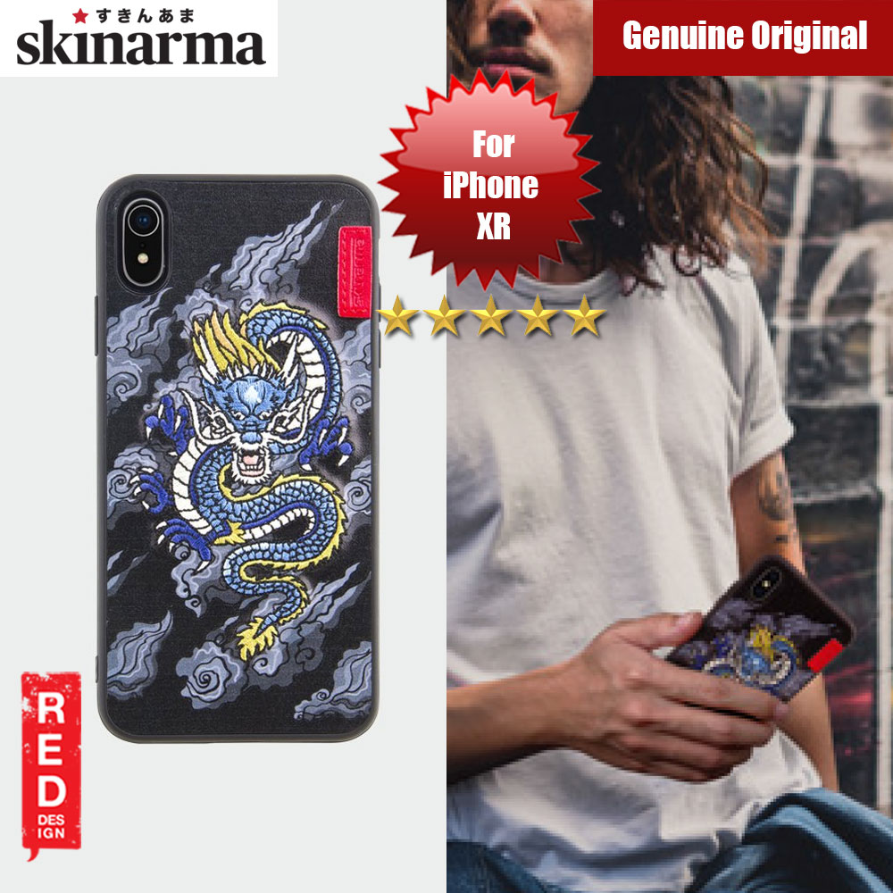 Picture of Skinarma Embroidery Designer Protection Case for Apple iPhone XR (Yokai Ryu Blue) Apple iPhone XR- Apple iPhone XR Cases, Apple iPhone XR Covers, iPad Cases and a wide selection of Apple iPhone XR Accessories in Malaysia, Sabah, Sarawak and Singapore