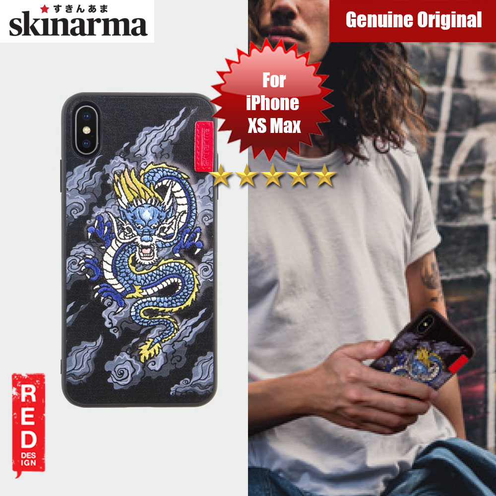 Picture of Skinarma Embroidery Designer Protection Case for Apple iPhone XS Max (Yokai Ryu Blue) Apple iPhone XS Max- Apple iPhone XS Max Cases, Apple iPhone XS Max Covers, iPad Cases and a wide selection of Apple iPhone XS Max Accessories in Malaysia, Sabah, Sarawak and Singapore