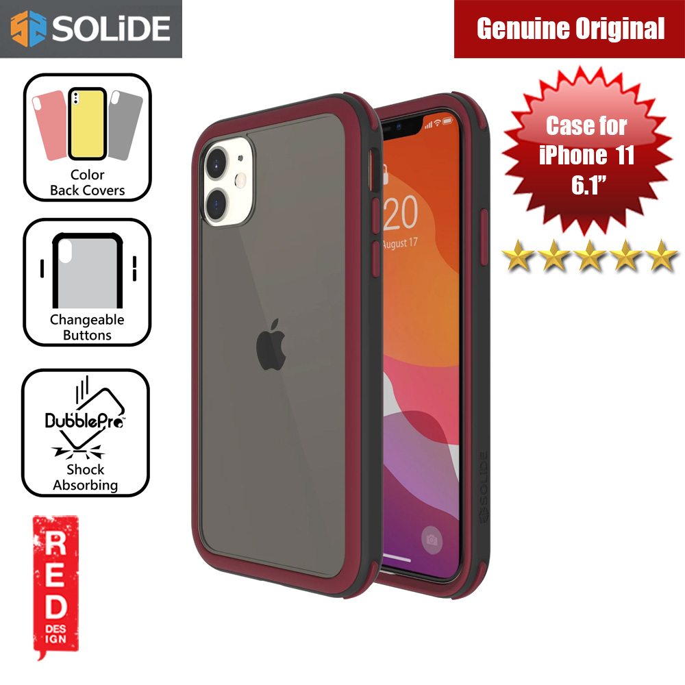 Picture of SOLiDE Venus EX Color Player Shock Absorbing Protection Case for Apple iPhone 11 6.1 (Black Maroon) Apple iPhone 11 6.1- Apple iPhone 11 6.1 Cases, Apple iPhone 11 6.1 Covers, iPad Cases and a wide selection of Apple iPhone 11 6.1 Accessories in Malaysia, Sabah, Sarawak and Singapore