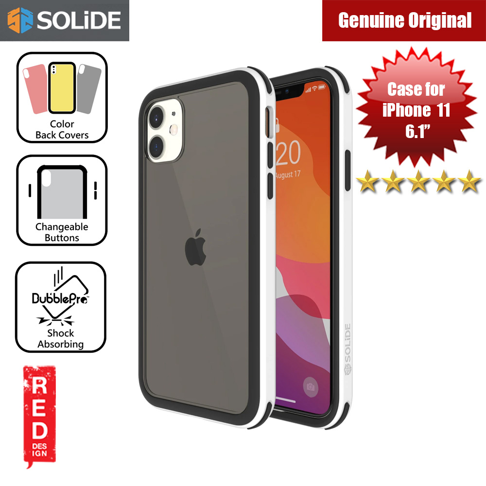 Picture of SOLiDE Venus EX Color Player Shock Absorbing Protection Case for Apple iPhone 11 6.1 (White Black) Apple iPhone 11 6.1- Apple iPhone 11 6.1 Cases, Apple iPhone 11 6.1 Covers, iPad Cases and a wide selection of Apple iPhone 11 6.1 Accessories in Malaysia, Sabah, Sarawak and Singapore