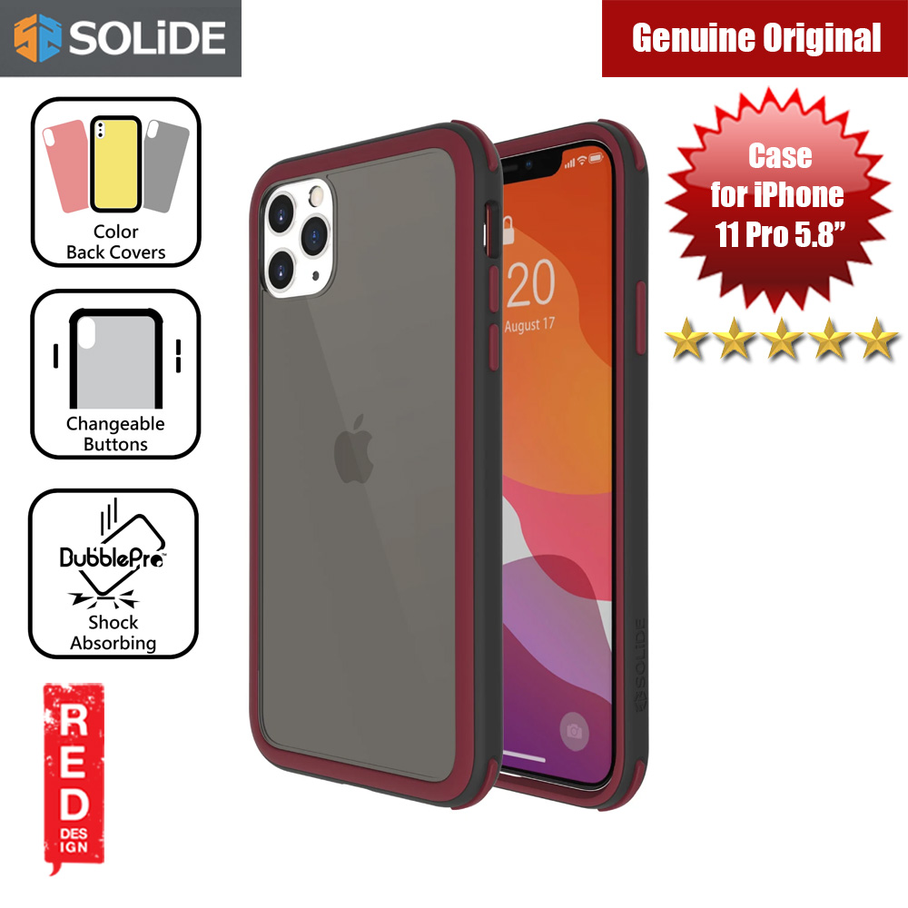 Picture of SOLiDE Venus EX Color Player Shock Absorbing Protection Case for Apple iPhone 11 Pro 5.8 (Black Maroon) Apple iPhone 11 Pro 5.8- Apple iPhone 11 Pro 5.8 Cases, Apple iPhone 11 Pro 5.8 Covers, iPad Cases and a wide selection of Apple iPhone 11 Pro 5.8 Accessories in Malaysia, Sabah, Sarawak and Singapore
