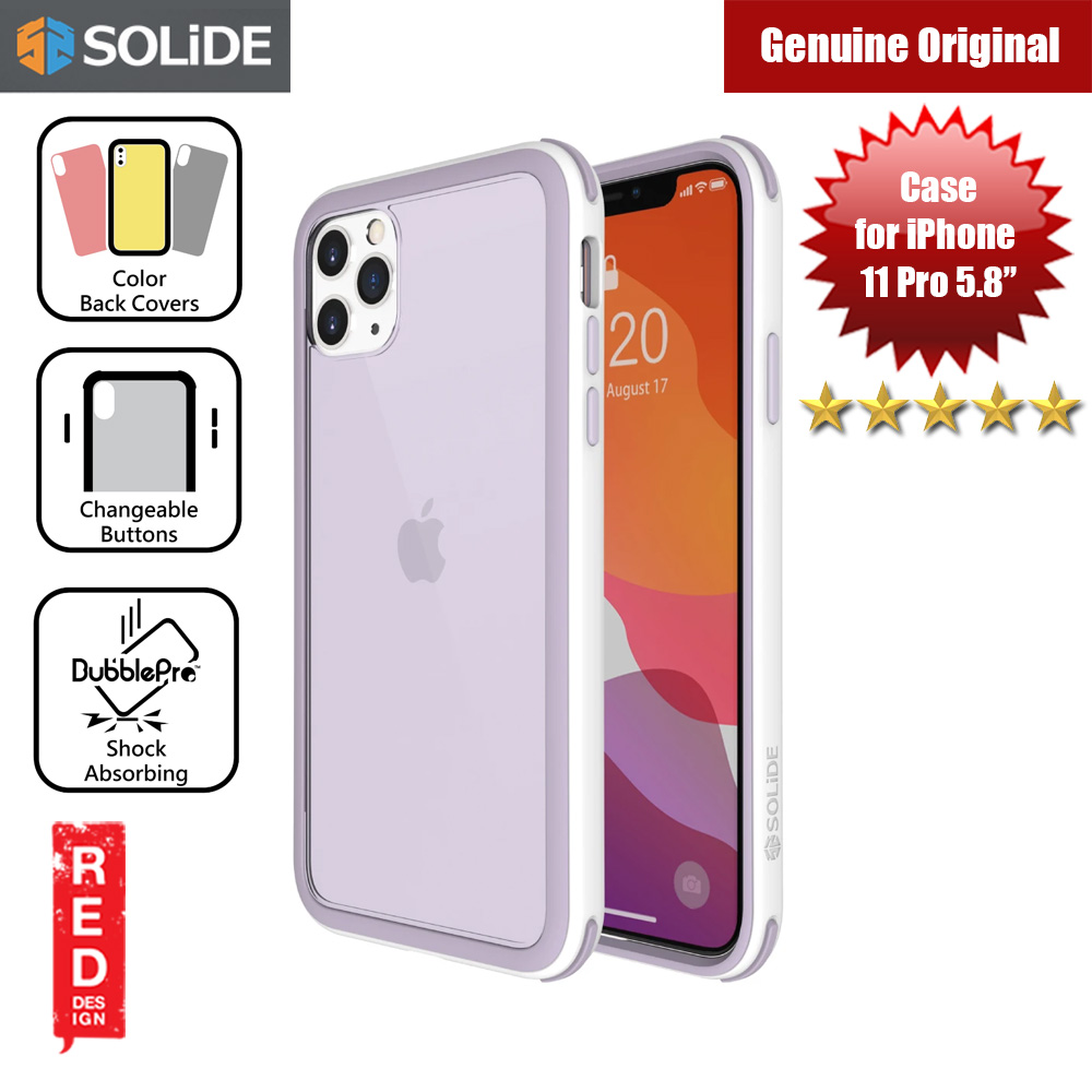 Picture of SOLiDE Venus EX Color Player Shock Absorbing Protection Case for Apple iPhone 11 Pro 5.8 (White Orchid) Apple iPhone 11 Pro 5.8- Apple iPhone 11 Pro 5.8 Cases, Apple iPhone 11 Pro 5.8 Covers, iPad Cases and a wide selection of Apple iPhone 11 Pro 5.8 Accessories in Malaysia, Sabah, Sarawak and Singapore
