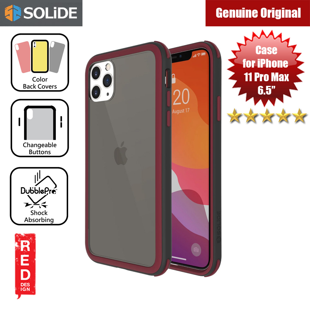 Picture of SOLiDE Venus EX Color Player Shock Absorbing Protection Case for Apple iPhone 11 Pro Max 6.5 (Black Maroon) Apple iPhone 11 Pro Max 6.5- Apple iPhone 11 Pro Max 6.5 Cases, Apple iPhone 11 Pro Max 6.5 Covers, iPad Cases and a wide selection of Apple iPhone 11 Pro Max 6.5 Accessories in Malaysia, Sabah, Sarawak and Singapore