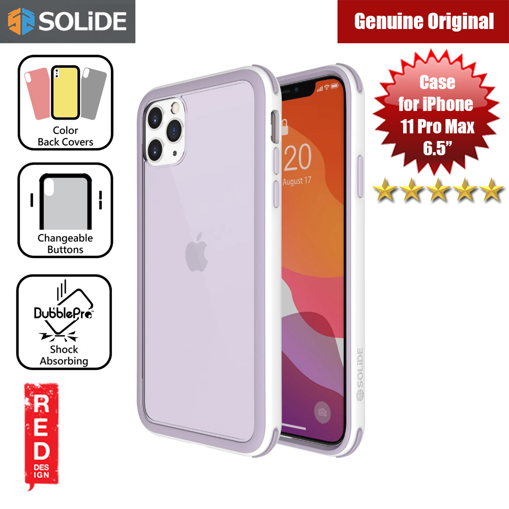 Picture of SOLiDE Venus EX Color Player Shock Absorbing Protection Case for Apple iPhone 11 Pro Max 6.5 (White Orchid) Apple iPhone 11 Pro Max 6.5- Apple iPhone 11 Pro Max 6.5 Cases, Apple iPhone 11 Pro Max 6.5 Covers, iPad Cases and a wide selection of Apple iPhone 11 Pro Max 6.5 Accessories in Malaysia, Sabah, Sarawak and Singapore