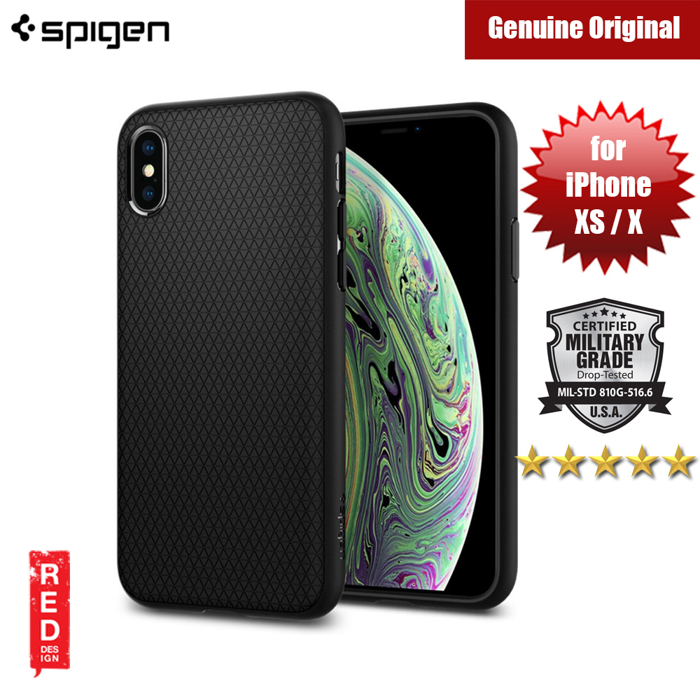 Picture of Spigen Liquid Air Armor Protection Case for Apple iPhone XS iPhone X (Black) Apple iPhone X- Apple iPhone X Cases, Apple iPhone X Covers, iPad Cases and a wide selection of Apple iPhone X Accessories in Malaysia, Sabah, Sarawak and Singapore