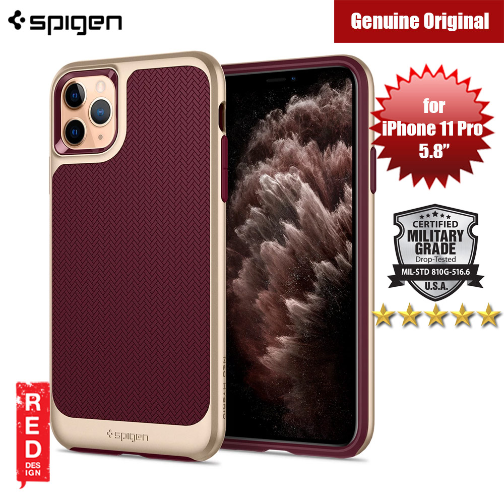 Picture of Spigen Neo Hybrid Drop Protection Case for Apple iPhone 11 Pro 5.8 (Burgundy) Apple iPhone 11 Pro 5.8- Apple iPhone 11 Pro 5.8 Cases, Apple iPhone 11 Pro 5.8 Covers, iPad Cases and a wide selection of Apple iPhone 11 Pro 5.8 Accessories in Malaysia, Sabah, Sarawak and Singapore