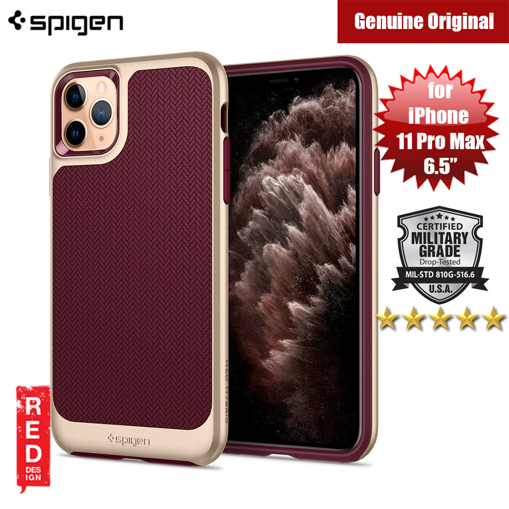 Picture of Spigen Neo Hybrid Drop Protection Case for Apple iPhone 11 Pro Max 6.5 (Burgundy) Apple iPhone 11 Pro Max 6.5- Apple iPhone 11 Pro Max 6.5 Cases, Apple iPhone 11 Pro Max 6.5 Covers, iPad Cases and a wide selection of Apple iPhone 11 Pro Max 6.5 Accessories in Malaysia, Sabah, Sarawak and Singapore
