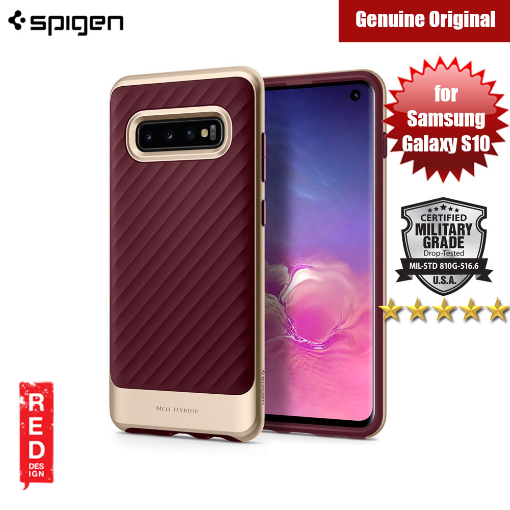 Picture of Spigen Neo Hybrid Protection Case for Samsung Galaxy S10 (Burgundy) Samsung Galaxy S10- Samsung Galaxy S10 Cases, Samsung Galaxy S10 Covers, iPad Cases and a wide selection of Samsung Galaxy S10 Accessories in Malaysia, Sabah, Sarawak and Singapore