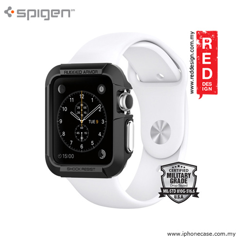Picture of Spigen Apple Watch Case Rugged Armor 42mm Series 1, Series 2 and 3 (Black) Apple Watch 42mm- Apple Watch 42mm Cases, Apple Watch 42mm Covers, iPad Cases and a wide selection of Apple Watch 42mm Accessories in Malaysia, Sabah, Sarawak and Singapore