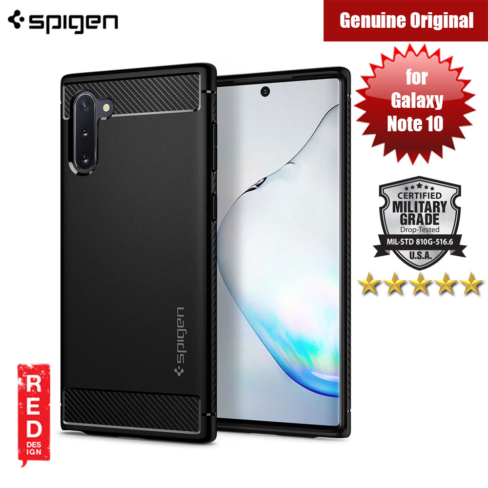 Picture of Spigen Rugged Armor Drop Protection Case for Samsung Galaxy Note 10 (Black) Samsung Galaxy Note 10- Samsung Galaxy Note 10 Cases, Samsung Galaxy Note 10 Covers, iPad Cases and a wide selection of Samsung Galaxy Note 10 Accessories in Malaysia, Sabah, Sarawak and Singapore