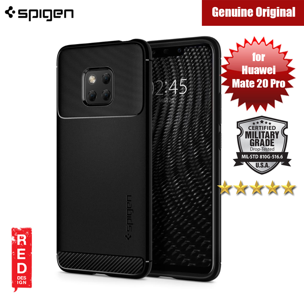 Picture of Spigen Rugged Armor Protection Soft Case for Huawei Mate 20 Pro (Black) Huawei Mate 20 Pro- Huawei Mate 20 Pro Cases, Huawei Mate 20 Pro Covers, iPad Cases and a wide selection of Huawei Mate 20 Pro Accessories in Malaysia, Sabah, Sarawak and Singapore