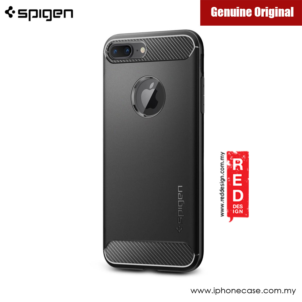 Picture of Apple iPhone 8 Plus Case | Spigen Rugged Armor Military Grade Back Cover Case for Apple iPhone 7 Plus iPhone 8 Plus 5.5 - Black
