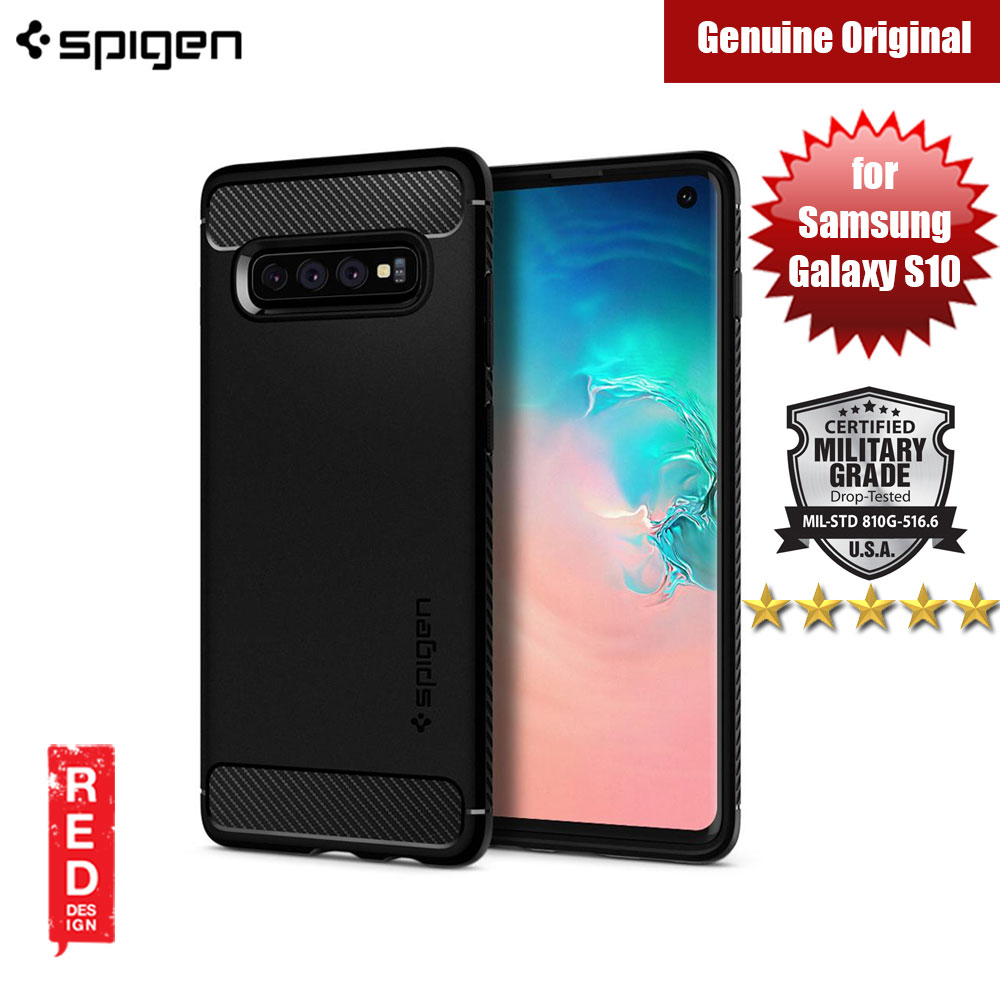 Picture of Spigen Rugged Armor Protection Case for Samsung Galaxy S10 (Black) Samsung Galaxy S10- Samsung Galaxy S10 Cases, Samsung Galaxy S10 Covers, iPad Cases and a wide selection of Samsung Galaxy S10 Accessories in Malaysia, Sabah, Sarawak and Singapore