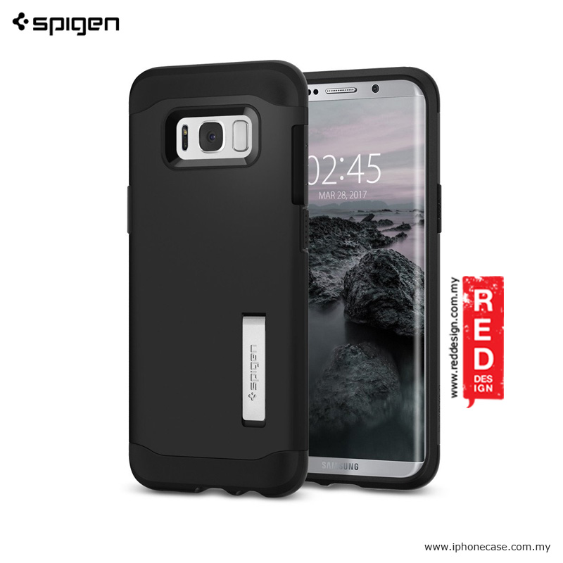 Picture of Spigen Slim Armor Protection Case for Samsung Galaxy S8 Plus - Black Samsung Galaxy S8 Plus- Samsung Galaxy S8 Plus Cases, Samsung Galaxy S8 Plus Covers, iPad Cases and a wide selection of Samsung Galaxy S8 Plus Accessories in Malaysia, Sabah, Sarawak and Singapore
