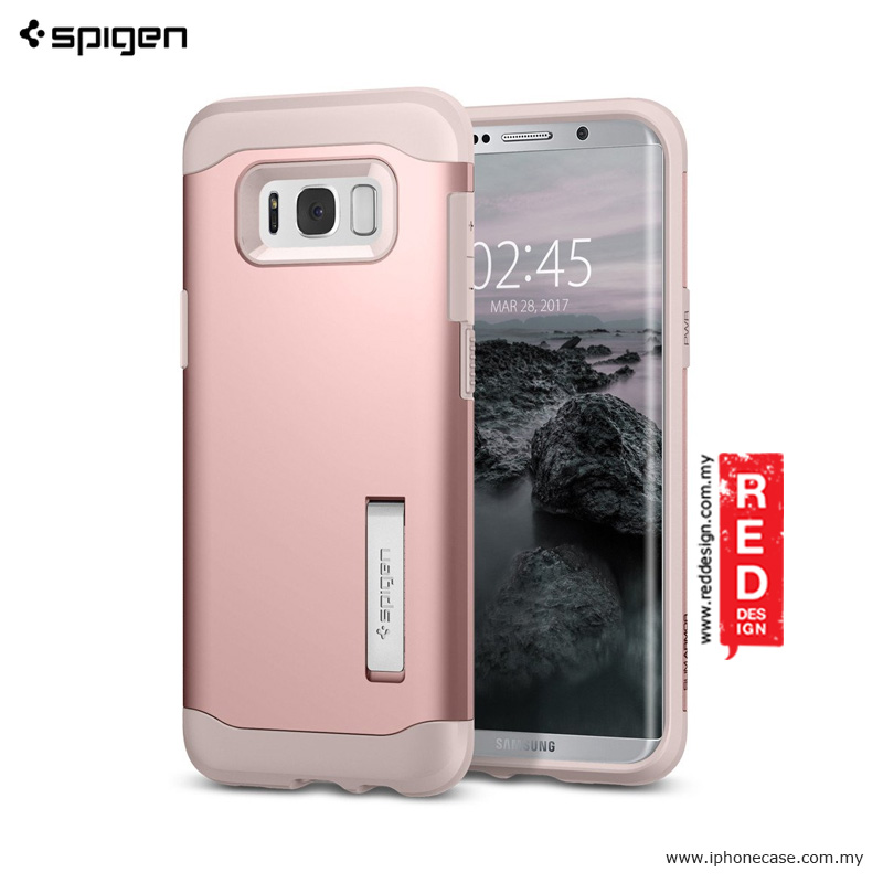 Picture of Spigen Slim Armor Protection Case for Samsung Galaxy S8 Plus - Rose Gold Samsung Galaxy S8 Plus- Samsung Galaxy S8 Plus Cases, Samsung Galaxy S8 Plus Covers, iPad Cases and a wide selection of Samsung Galaxy S8 Plus Accessories in Malaysia, Sabah, Sarawak and Singapore